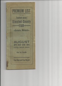 1923 Olmsted county fair program